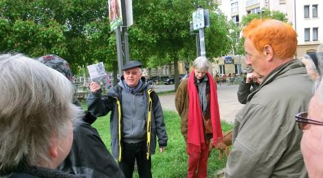 Osterspazier-gang zu Stolpersteinen in Heslach